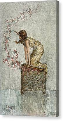 Opening Of Pandoras Box Canvas Print by Granger