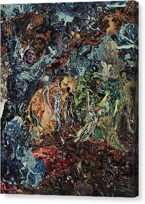 Opening Of The Fifth Seal After El Greco Canvas Print