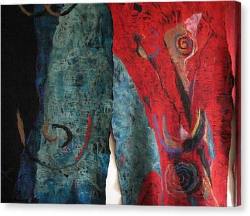 Opening The Skies Canvas Print by Kseniya Nelasova