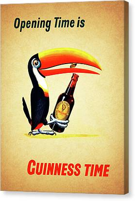 Opening Time Is Guinness Time Canvas Print by Mark Rogan