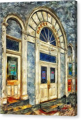 Opera House At Shepherdstown Canvas Print by Lois Bryan