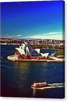 Canvas Print featuring the photograph Opera House Sydney Austalia by Gary Wonning