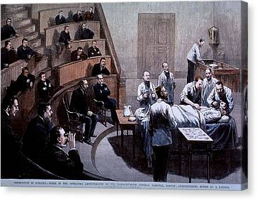 Operating Room Amphitheater Canvas Print by Everett