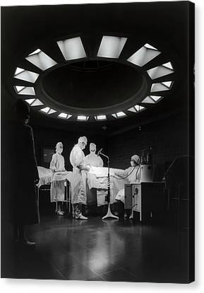 Canvas Print featuring the photograph Operating Room Theater 1933 by Daniel Hagerman