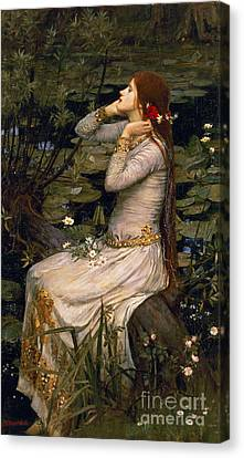 Character Portraits Canvas Print - Ophelia by John William Waterhouse