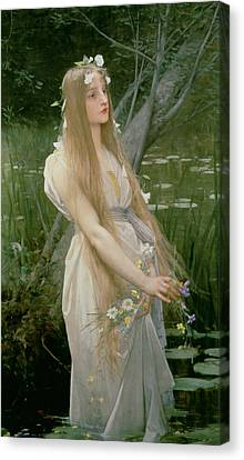 Ophelia Canvas Print by Jules Joseph Lefebvre