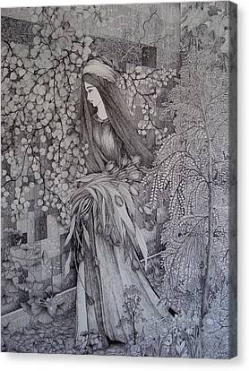 Ophelia Leaves The Courtyard Canvas Print