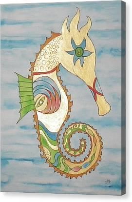 Ophelia The Seahorse Canvas Print by Erika Swartzkopf