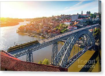 Port Town Canvas Print - Oporto City by Carlos Caetano