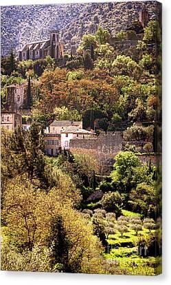 Oppede Le Vieux Landscape Canvas Print by Olivier Le Queinec