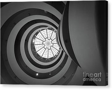 Guggenheim Canvas Print - Opposing Circles by Inge Johnsson