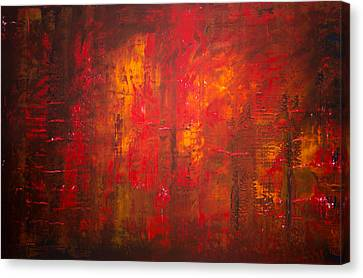 Abstract Expressionist Canvas Print - Opt.47.15 Forest Fire by Derek Kaplan