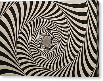 Optical Illusion Beige Swirl Canvas Print by Sumit Mehndiratta
