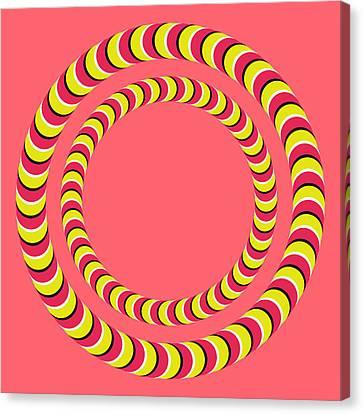 Optical Illusion Circle In Circle Canvas Print by Sumit Mehndiratta