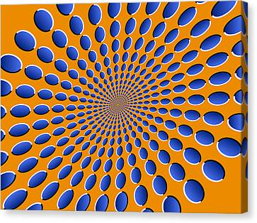 Moving Canvas Print - Optical Illusion Pods by Michael Tompsett