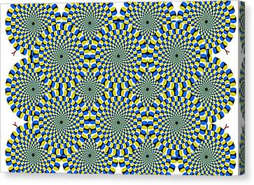 Optical Illusion Spinning Circles Canvas Print by Sumit Mehndiratta