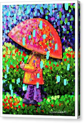 Rainy Day Stroll Canvas Print by Dani Abbott