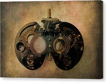 Optometrist Equipment Canvas Print by Garry Gay