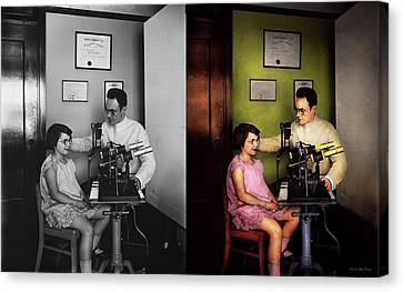 Canvas Print - Optometrist - The Eye Exam 1929 - Side By Side by Mike Savad