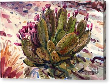 Opuntia Cactus Canvas Print by Donald Maier