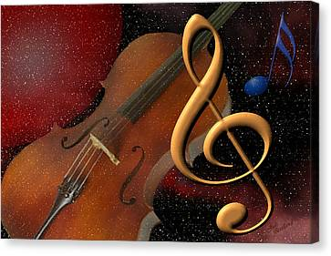 Opus For The Final Frontier Canvas Print by Judi Quelland
