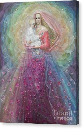 Madonna And Child Canvas Print - Ora Pro Nobis by Annael Anelia Pavlova