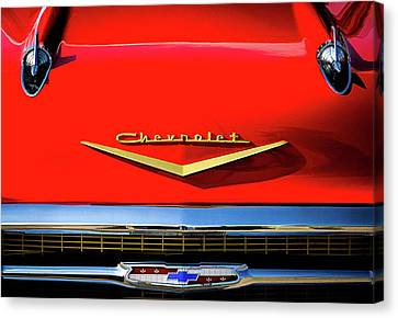 Orange '57 Chevy Canvas Print by Douglas Pittman