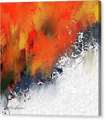 Splashes At Sunset - Orange Abstract Art Canvas Print by Lourry Legarde