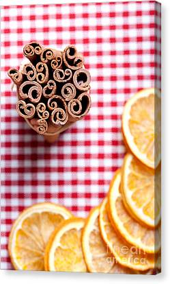 Orange And Cinnamon Canvas Print