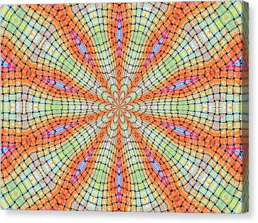 Canvas Print featuring the digital art Orange And Green by Elizabeth Lock