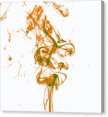 Orange And Green Canvas Print