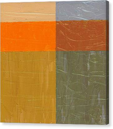Orange And Grey Canvas Print by Michelle Calkins