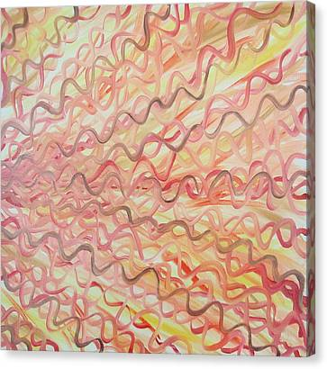 Canvas Print featuring the painting Orange And Red   by Beth Akerman