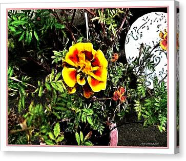 Canvas Print featuring the photograph Orange And Yellow Flower by Joan  Minchak