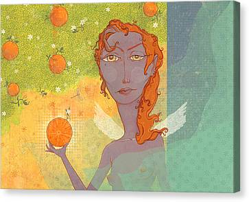 Angel Canvas Print - Orange Angel 1 by Dennis Wunsch
