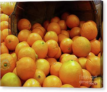 Orange Basket Canvas Print by Methune Hively
