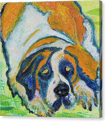 Orange Bernard Canvas Print