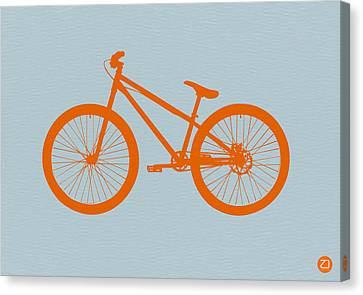 Vintage Car Canvas Print - Orange Bicycle  by Naxart Studio