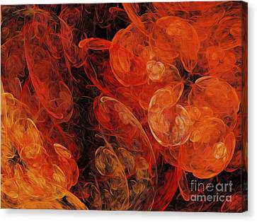 Orange Blossom Abstract Canvas Print by Andee Design