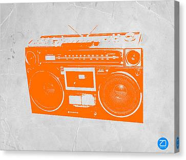 Kids Toys Canvas Print - Orange Boombox by Naxart Studio