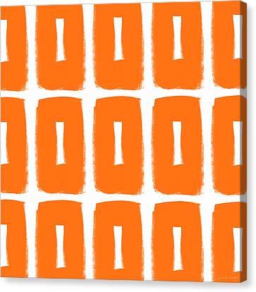 Tangerine Canvas Print - Orange Boxes- Art By Linda Woods by Linda Woods