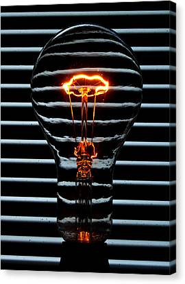 Orange Bulb Canvas Print by Rob Hawkins