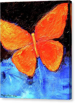 Orange Butterfly Canvas Print by Noga Ami-rav