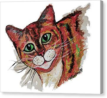 Orange Cat Canvas Print by Carol Tsiatsios