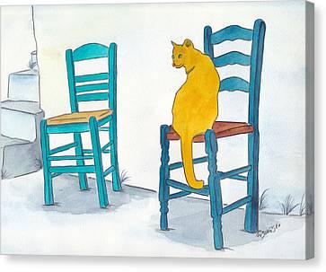 Orange Cat Canvas Print by Michaela Bautz