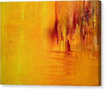Canvas Print featuring the painting Orange by Claire Bull