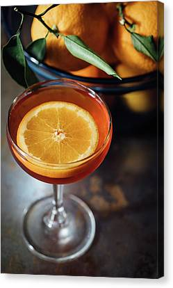Orange Cocktail Canvas Print by Happy Home Artistry