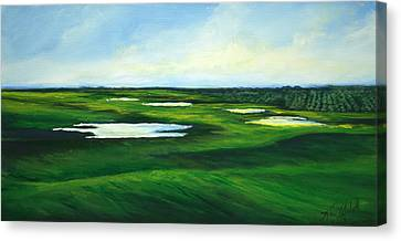 Orange County Fairway Canvas Print by Michele Hollister - for Nancy Asbell