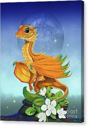 Orange Dragon Canvas Print by Stanley Morrison