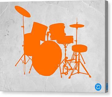Orange Drum Set Canvas Print by Naxart Studio